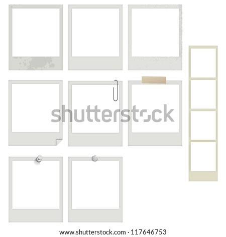eps10 vector instant photo and photobooth frames