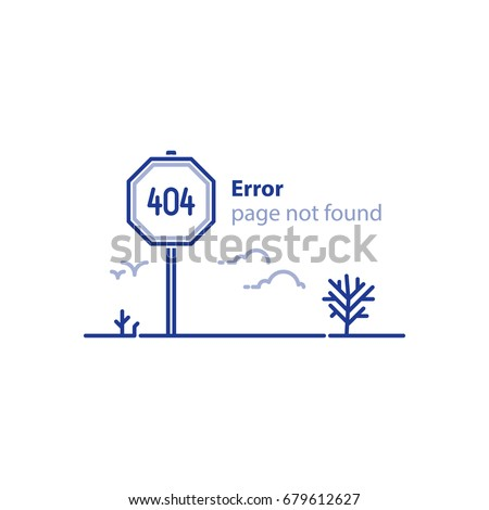 Vector illustration background template web page stock for 404 not found html template