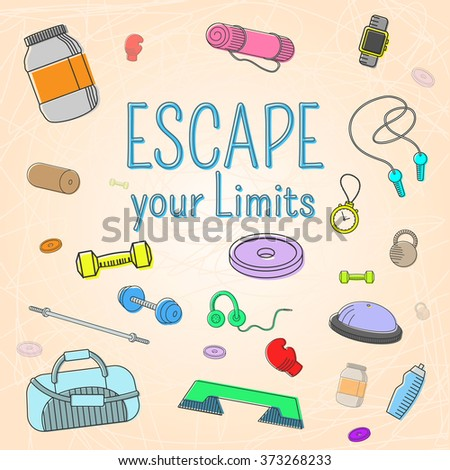 Escape your limits, fitness icons