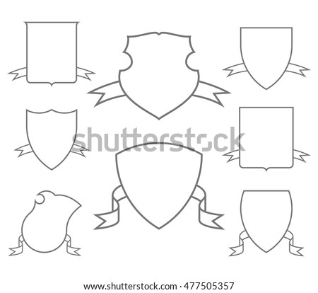 Set Vector Coats Arms Stock Vector   Shutterstock