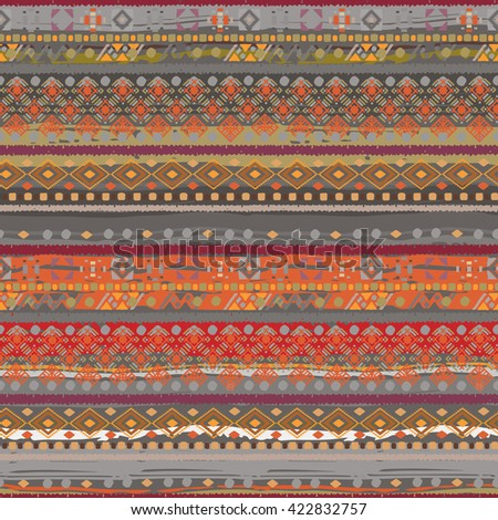 Ethnic boho seamless pattern. Tribal art woven  print. Background texture, wrapping, wallpaper