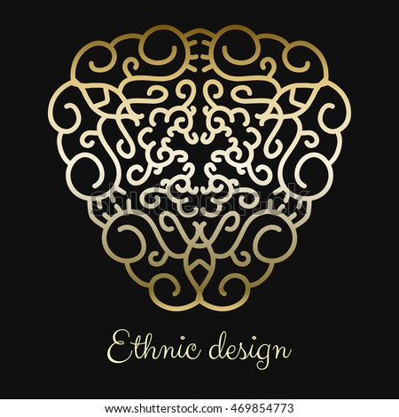 Ethnic element, Eastern Golden figure for design.