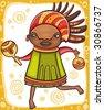 Ethnic girl 3.  To see similar, please VISIT MY PORTFOLIO   - stock vector
