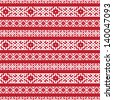 ethnic seamless background. textures in red and white colors - stock vector
