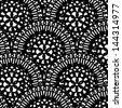 ethnic seamless pattern. Indian ornament,  flora pattern, mandala. range, circle, round, disk. abstract seamless pattern - stock photo