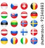 Europe flags buttons, part two - stock photo