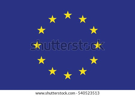 European Union Flag. Vector Format