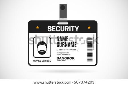 security pass template