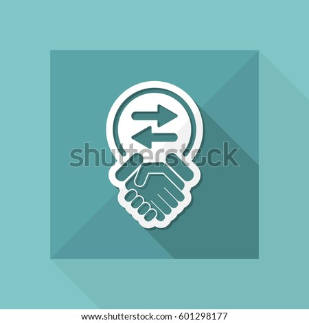 Exchange Agreement Icon Stock Vector 190838138 - Shutterstock