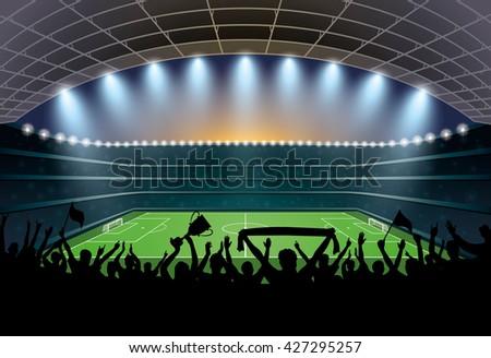 Crowded Football Stadium Stock Photo 219272452 Shutterstock
