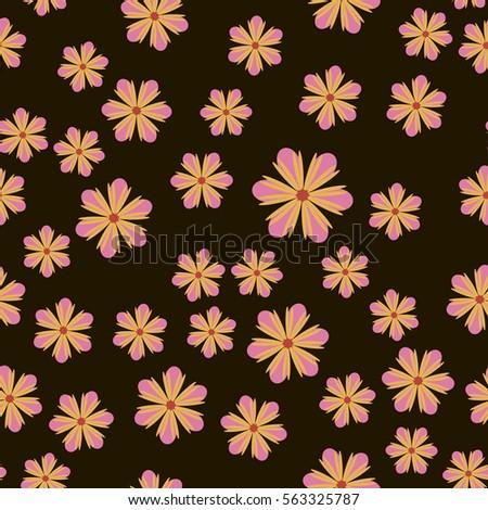 Seamless colorful flowers texture isolation on stock illustration 184333865 shutterstock - Photowallpaperexquisitedesignonotherdesignideas jpg ...