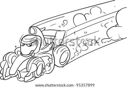 F1 formula automobile  racing car the world's fastest outline to paint