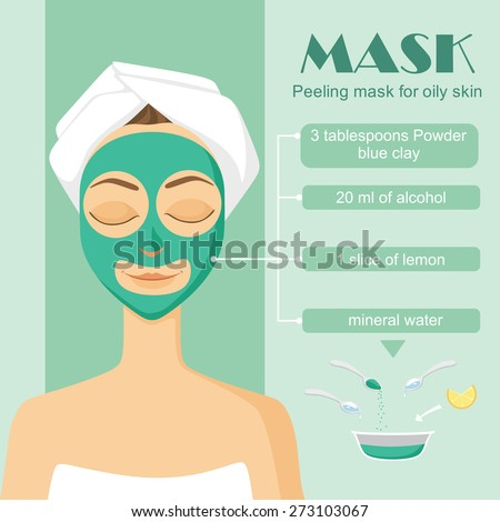 Poster Infographics Perfect Skin Skin Problems Stock ...