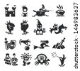 fairy tale icons - stock