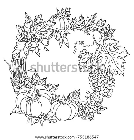 Set Hand Drawn Vector Floral Wreaths Stock Vector