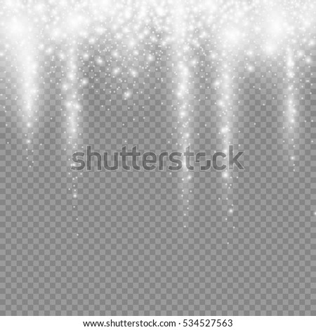 falling christmas light decoration snow isolated on transparent background, snowfall for your winter design, vector illustration eps 10