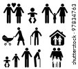 Family and life icon set - stock photo