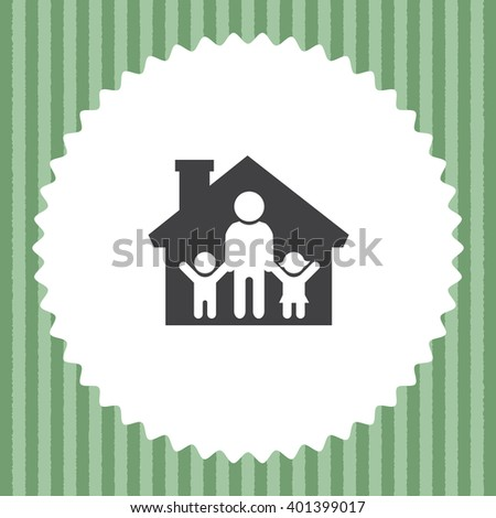 Family in House vector icon