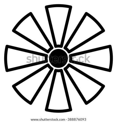 Geometric Circle Element Made Radiating Rectangles Stock Illustration 525666556 ...