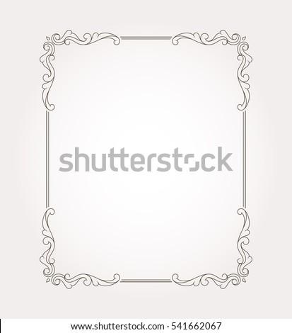border frame fancy. Fancy Frame Border And Page Ornament. Decorative Design Element. Vector Illustration R