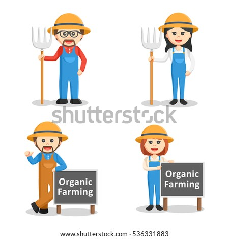 farmer people set illustration design