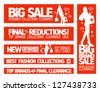 Fashion banners set for sale and new clothing collections. - stock vector