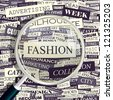 FASHION. Word collage. Vector seamless illustration. - stock vector