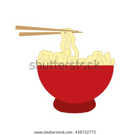 Fast and Street food concept. Eating outside. noodle icon. Vecto