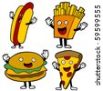 Fast Food Characters - stock vector