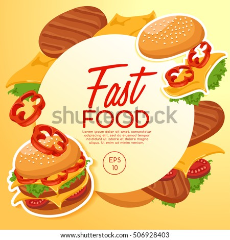 Fast Food Elements : Vector Illustration