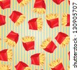 Fast food seamless pattern background. - stock photo