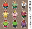 fat people stickers - stock photo