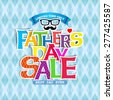 "Father""s day Sale design (Paper Folding Design) for promotion, poster, flier, blog, article, social media, marketing, flyer, web page, sign  - stock vector"