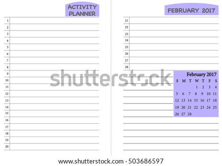 August 2017 Calendar Template Monthly Planner Stock Vector ...
