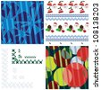 Festive patterns and borders set - stock vector