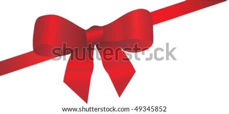 Festive ribbon and bow