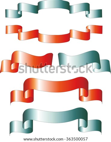 Festive Ribbon, red and blue