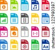 File Types icons - stock vector