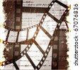 Film grunge retro background - stock vector