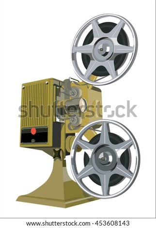 Film projector isolated