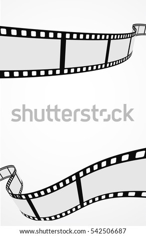 film strip reel abstract background 3d