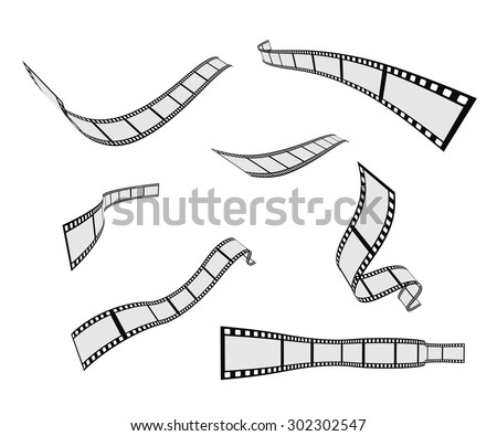 film strip roll design element set