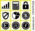 finance, currency icon set - stock vector