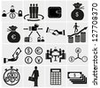 Finance Icons.Money icons set - stock vector
