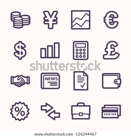 Finance web icons set