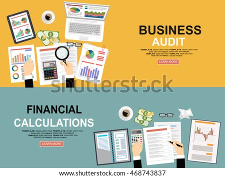 Business Analytic Banners Goal Banners