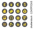financial icons, banking icon set - stock vector