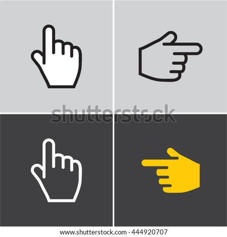 finger icon, hand, finger pointing, pointer