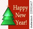 fir-tree card new year 2 - stock photo