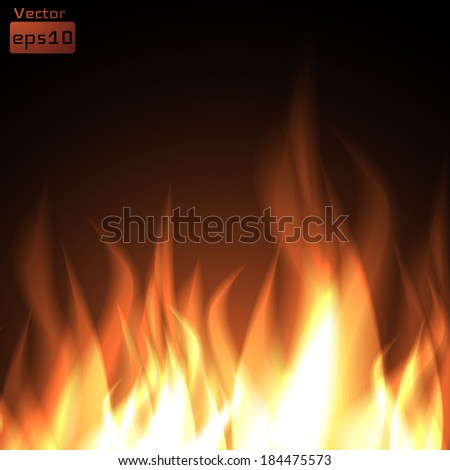 Fire background. Vector eps10.